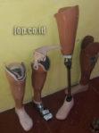 penjual kaki palsu di kota Solo